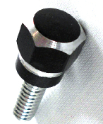 Harley Custom Seat Bolt - Hex - Black