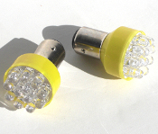 1156 Turn Signal Amber LED Bulbs - Set of 2