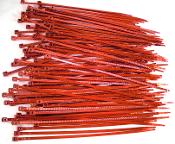 "Blood Red 4"" Cable Zip Ties - 10 Pack"