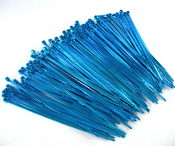 "Blue 4"" Cable Zip Ties - 10 Pack"