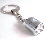 Chrome Key Chain - Swarovski Crystal - Clear