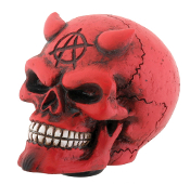 Skull Gear Shift Knob - Red Demon