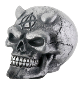 Skull Gear Shift Knob - Silver Demon