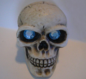 Skull Gear Shift Knob - Gem Aqua Eyes