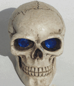 Skull Gear Shift Knob - Gem Blue Eyes