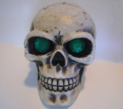 Skull Gear Shift Knob - Gem Green Eyes