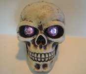 Skull Gear Shift Knob - Gem Pink Eyes