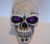 Skull Gear Shift Knob - Gem Purple Eyes