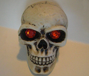 Skull Gear Shift Knob - Gem Red Eyes
