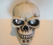 Skull Gear Shift Knob - Gem Clear Eyes