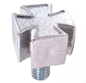 Harley Custom Seat Bolt - Iron Cross - Chrome (B)
