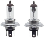 H4 Halogen 65/55W 12V Bulb - Clear - Pair