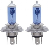 H4 Halogen 65/55W 12V Bulb - Icy Blue - Pair
