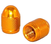 Knurled Bullet Valve Stem Caps - Gold - Set of 2