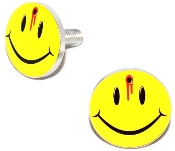 Polished Billet License Frame Bolts - Smiley Shot - Set of 2