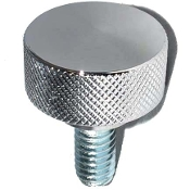 Harley Custom Seat Bolt - Chrome Billet Knurled - LG