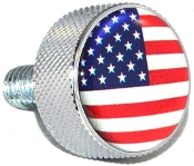Harley Twin Cam Air Cleaner Bolt - Chrome Billet Flag USA