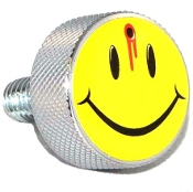 Harley Twin Cam Air Cleaner Bolt - Chrome Billet Smiley Shot