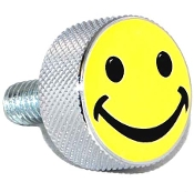 Harley Twin Cam Air Cleaner Bolt - Chrome Billet Smiley Face