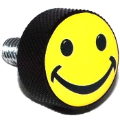 Harley Twin Cam Air Cleaner Bolt - Black Billet Smiley Face