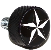Harley Twin Cam Air Cleaner Bolt - Black Billet Star - Black