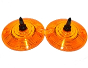 Low Profile Amber Lenses - Long Spike - Black - 2
