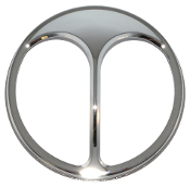 "7"" Headlight Cover - Chrome Cat's Eye"