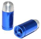 Bullet Valve Stem Caps - Blue - Set of 2