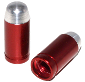 Bullet Valve Stem Caps - Red - Set of 2