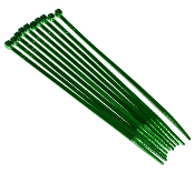"Green 4"" Cable Zip Ties - 10 Pack"
