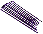 "Purple 4"" Cable Zip Ties - 10 Pack"