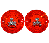 Low Profile Red Lenses - Skull & Bones - 2