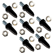 Motorcycle Windshield Bolts - Long Spike - Black - 7