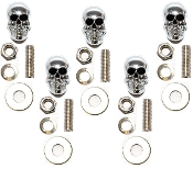 Motorcycle Windshield Bolts - Skull w/ Black Eyes - 5