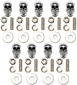 Motorcycle Windshield Bolts - Skull w/ Black Eyes - 9