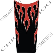 89-07 Road & Electra Glide Dash Insert Decal - Flame - Red/Black