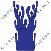 89-07 Road & Electra Glide Dash Insert Decal - Flame - White/Blu