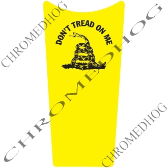 89-07 Road & Electra Glide Dash Insert Decal - Don't Tread Full