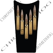 89-07 Road & Electra Glide Dash Insert Decal - Bullets