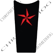 89-07 Road & Electra Glide Dash Insert Decal - Star Red/Blk