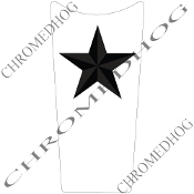 89-07 Road & Electra Glide Dash Insert Decal - Star Black/Wht
