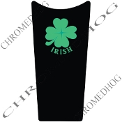89-07 Road & Electra Glide Dash Insert - Clover - Irish Black