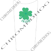 89-07 Road & Electra Glide Dash Insert - Clover - Irish White