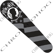 10-Up FLTRX Road Glide Dash Insert Decal - POW*MIA Ghost Flag