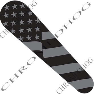 10-Up FLTRX Road Glide Dash Insert Decal - Flag - Ghost American