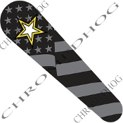 10-Up FLTRX Road Glide Dash Insert Decal - Army Star Ghost Flag