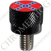 Harley Custom Seat Bolt - S KN Black Billet Flag - Rebel