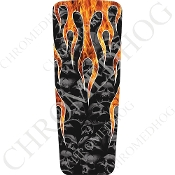 08-15 Ultra & Electra Glide Dash Insert - Skull Flame - Real/Gr
