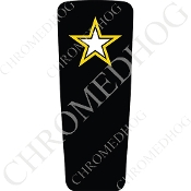 08-15 Ultra & Electra Glide Dash Insert - Army Star - Black