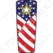 08-15 Ultra & Electra Glide Dash Insert - Army Star - US Flag
